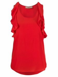 Twin-Set ruffled sleeveless blouse - Red