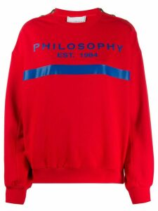 Philosophy Di Lorenzo Serafini logo print shoulder button sweatshirt -