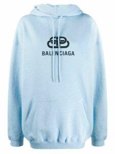 Balenciaga BB print hoodie - Blue