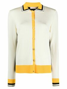 Tory Burch colour block cardigan - NEUTRALS