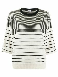 Brunello Cucinelli striped loose-fit jumper - NEUTRALS