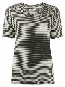 Isabel Marant Étoile striped longline T-shirt - Black