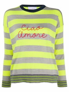 Giada Benincasa striped 'ciao amore' jumper - Yellow
