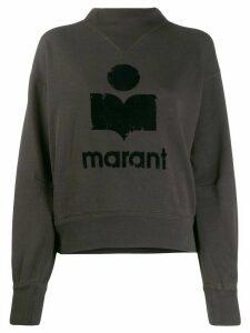 Isabel Marant Étoile logo stamp sweatshirt - Black