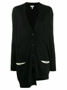 Loewe oversized asymmetric cardigan - Black