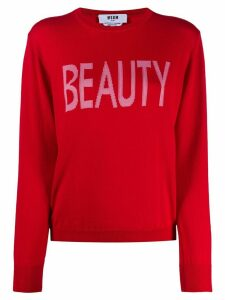 MSGM Beauty intarsia-knit jumper - Red