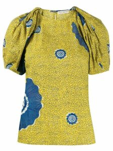 Ulla Johnson Winona abstract print top - Yellow
