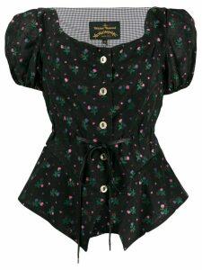 Vivienne Westwood Anglomania floral print blouse - Black