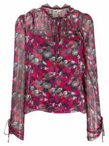 DVF Diane von Furstenberg Lilian floral print blouse - Red