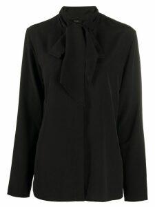 Joseph tie-front blouse - Black