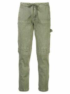 Greg Lauren high waisted cargo trousers - Green