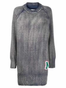 Mm6 Maison Margiela logo oversized jumper - Blue