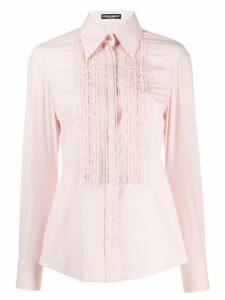 Dolce & Gabbana ruffled shirt - PINK