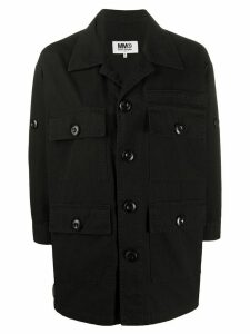 Mm6 Maison Margiela multi pocket shirt jacket - Black