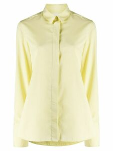 Jil Sander plain longsleeved shirt - Yellow