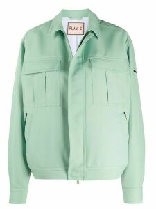 Plan C boxy-fit shirt jacket - Green