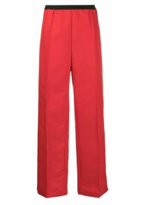 Plan C elasticated waist wide-leg trousers - Red