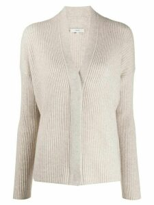 Vince ribbed relaxed-fit cardigan - NEUTRALS