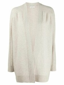 Vince ribbed back loose-fit cardigan - NEUTRALS