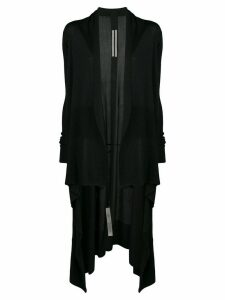 Rick Owens long draped cardigan - Black