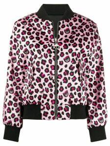 Chiara Ferragni leopard print bomber jacket - PINK