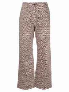 Baum Und Pferdgarten abstract-print cropped kick-flare trousers -