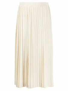Prada pleated midi skirt - NEUTRALS