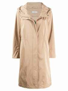 Peserico hooded mid-length parka - NEUTRALS