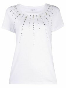 Patrizia Pepe crew neck studded T-shirt - White