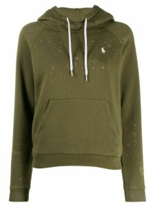 Polo Ralph Lauren acid-wash fleece hoodie - Green