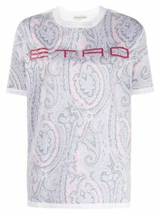 Etro paisley print T-shirt - Grey