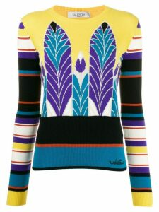 Valentino Pop Feathers jacquard jumper - Yellow