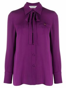 Valentino pussy bow detail shirt - PURPLE