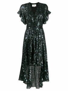 Ba & Sh Grace metallic leopard-print dress - Black