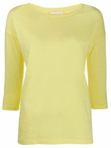Semicouture Faustine 3/4 sleeves top - Yellow