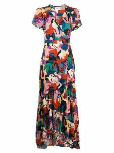 Ba & Sh Missy graphic-print maxi dress - Blue