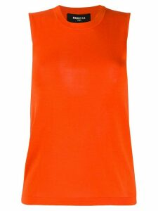Paule Ka sleeveless knitted top - ORANGE