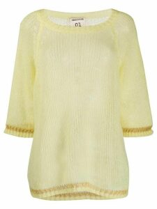 Semicouture Michele 3/4 sleeves jumper - Yellow