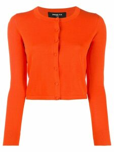 Paule Ka round neck cropped cardigan - ORANGE