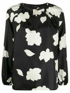 Theory open-neck silk blouse - Black