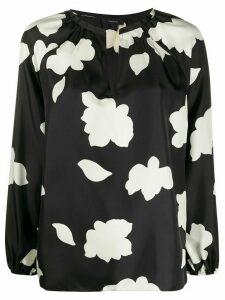 Theory open-neck silk blouse - Black