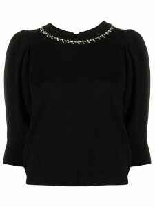 Ba & Sh Nea cropped sleeve jumper - Black