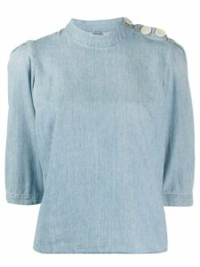 Ba & Sh Gaolo denim top - Blue