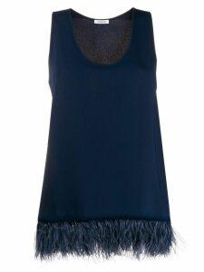 P.A.R.O.S.H. feather trimmed top - Blue