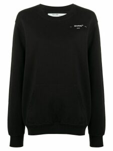 Off-White arrows print logo sweatshirt - Black