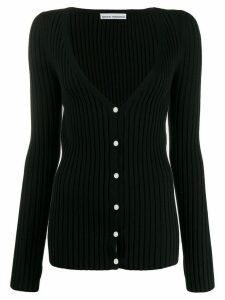 Paco Rabanne deep V-neck cardigan - Black
