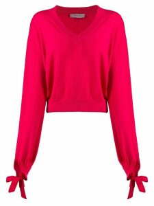 Twin-Set boxy knitted jumper - PINK