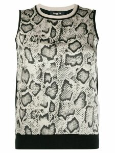 Paule Ka animal-print silk blouse - Black
