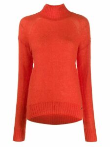 Patrizia Pepe turtle neck jumper - ORANGE