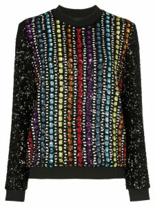 Mary Katrantzou Magpie sequinned sweatshirt - Black